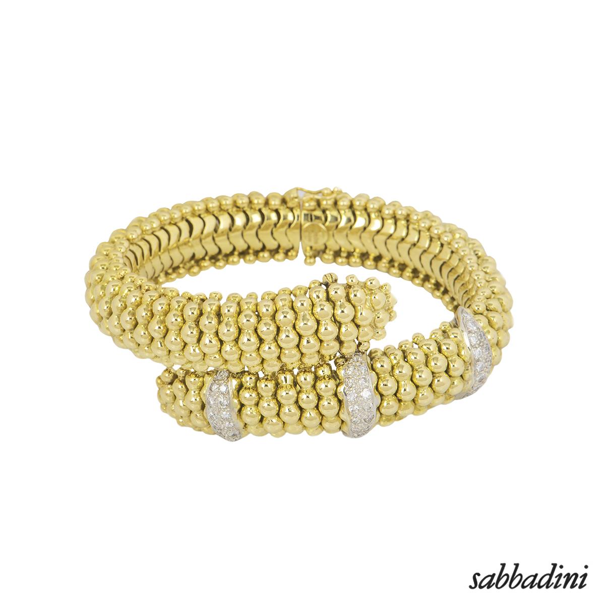 Sabbadini Yellow Gold Diamond Suite